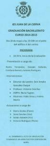 GRADUACIÓN BACHILLERATO-2015